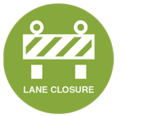 Lane Closure Announcement Logo