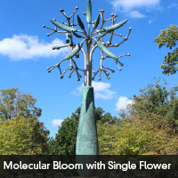 Molecular Bloom With Single Flower
